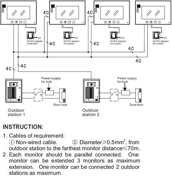Nech - Support  Wire Intercom Wiring Instruction Diagram on